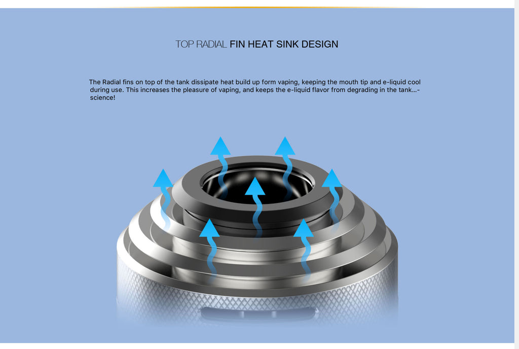 Aspire Rover 2 VW Mod Fin Heat Sink Design