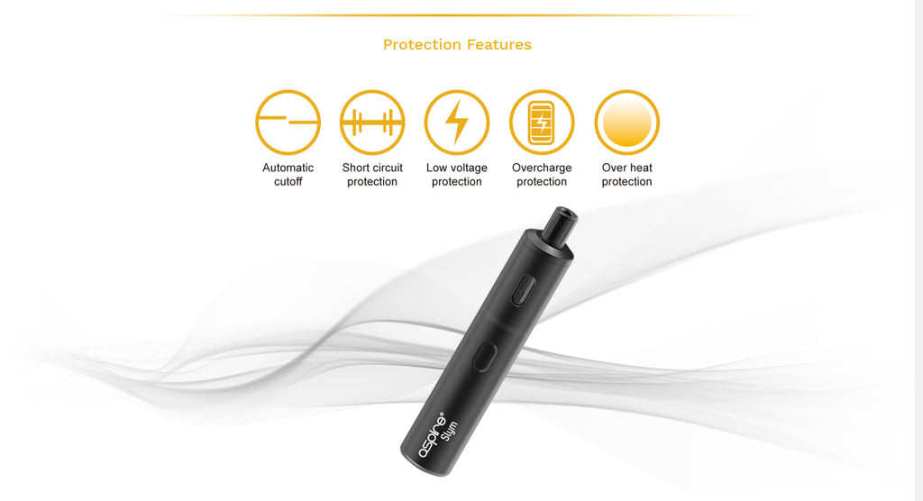 Aspire Slym Vape Pod System Protection Features