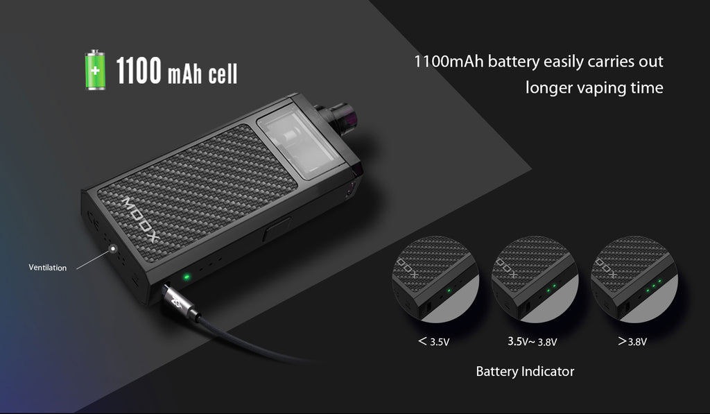 Aspire ZQ Moox Pod System VW Starter Kit 1100mAh Battery