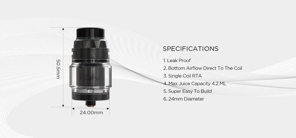 Augvape Intake RTA Specifications
