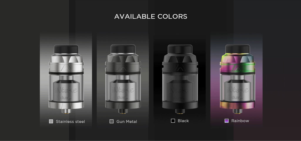 Augvape Intake RTA with Dual Coil 4 Colors Available