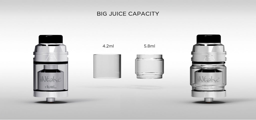 Augvape Intake RTA with Dual Coil Big ijk Capacity