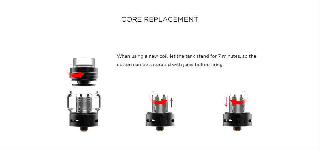 Augvape Skynet Sub Ohm Tank Core Replacement