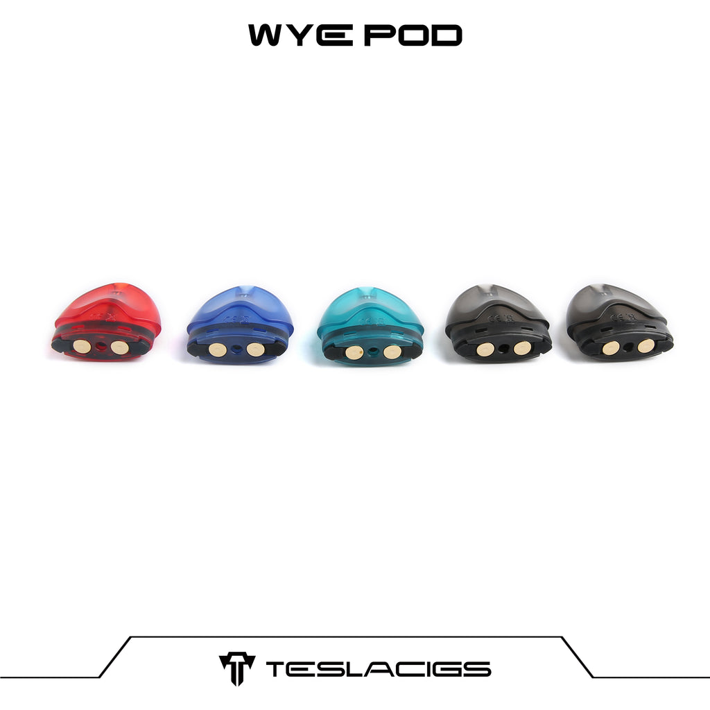 Original Replacement Pod Cartridge For Teslacigs WYE Pod Kit Colors Available