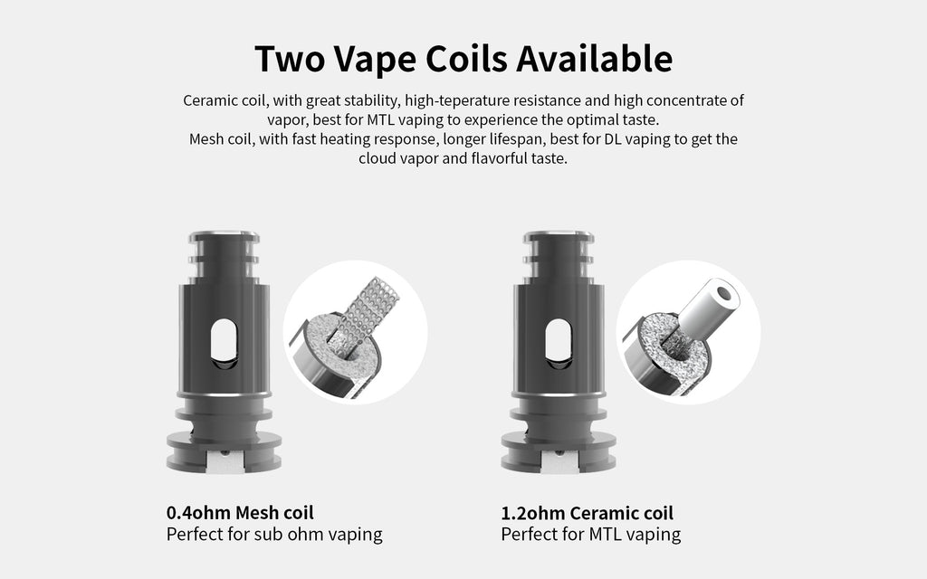 Two Vape Coils Available