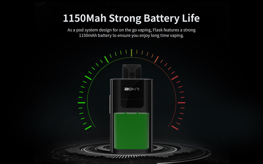 BOHR Flask Vape Pod System Starter Kit 1150mAh Battery