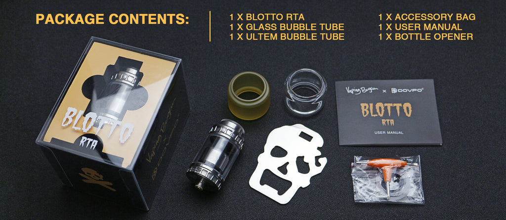 DOVPO BLOTTO RTA Package Contents