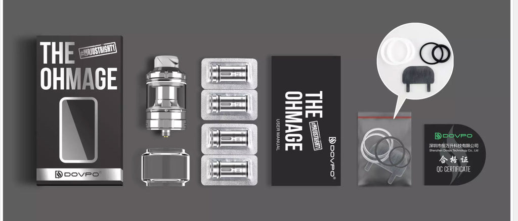 Dovpo The Ohmage Sub-ohm Tank 5.5ml 26.5mm Package Includes