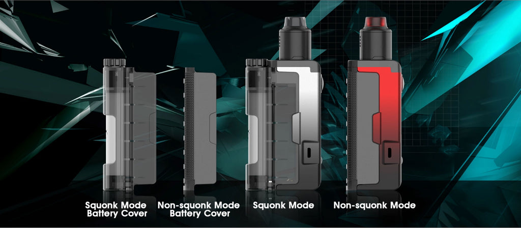 Dovpo Topside Lite TC Squonk Mod Kit with Variant RDA 90W 10ml Components