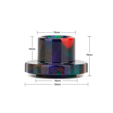 REEVAPE AS129 Resin Replacement Drip Tip For Aspire Cleito 120 Tank Size