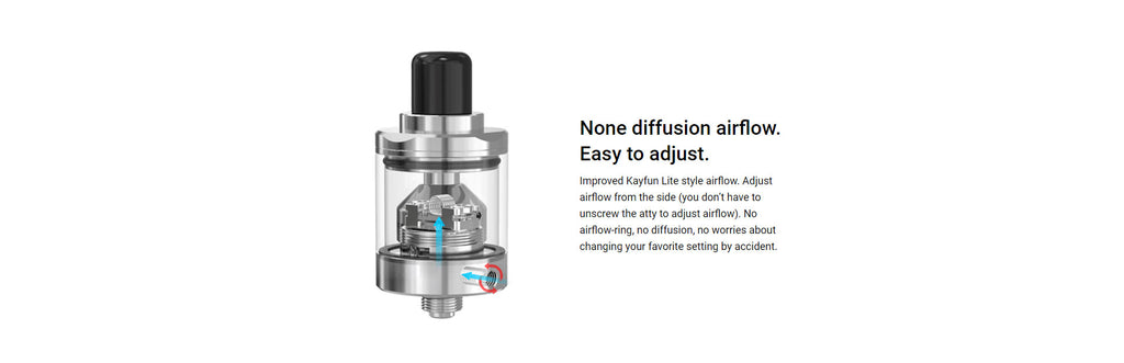 Damn Vape Diamond MTL RTA None Diffusion Airflow