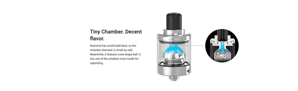 Damn Vape Diamond MTL RTA Small Build Deck
