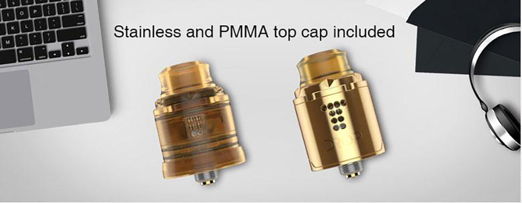 Digiflavor Drop Solo RDA Stainless and PMMA top Cap