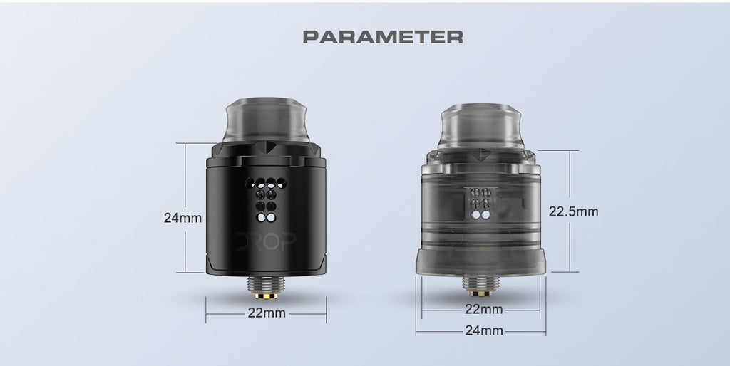 Digiflavor Drop Solo RDA Parameter
