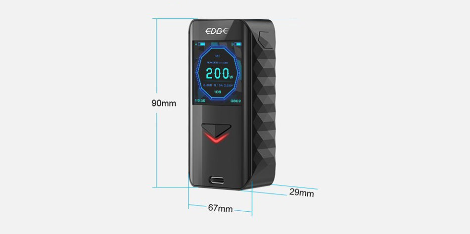 Digiflavor Edge TC Box Mod Size
