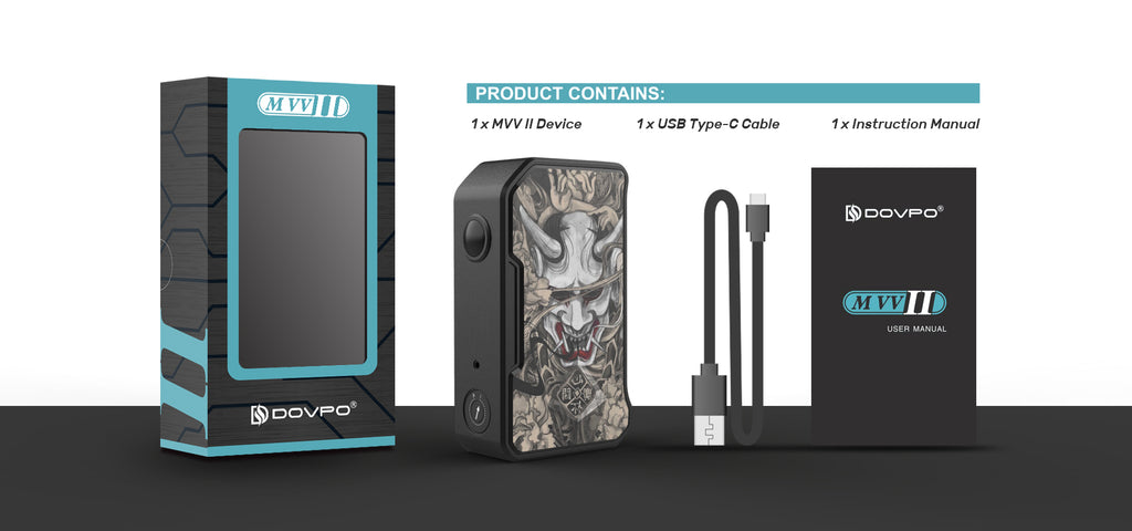 Dovpo MVV II Semi Mech Mod Package Contains