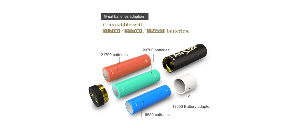 Ehpro Armor Prime Mechanical Mod Batteries