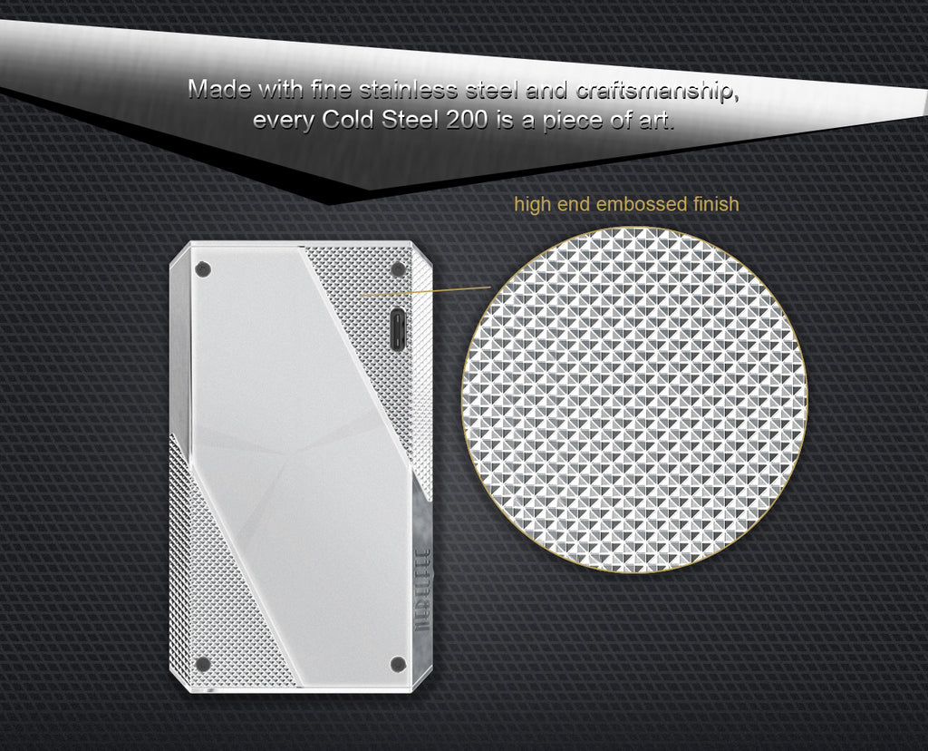 Ehpro Cold Steel 200 TC Box Mod Design