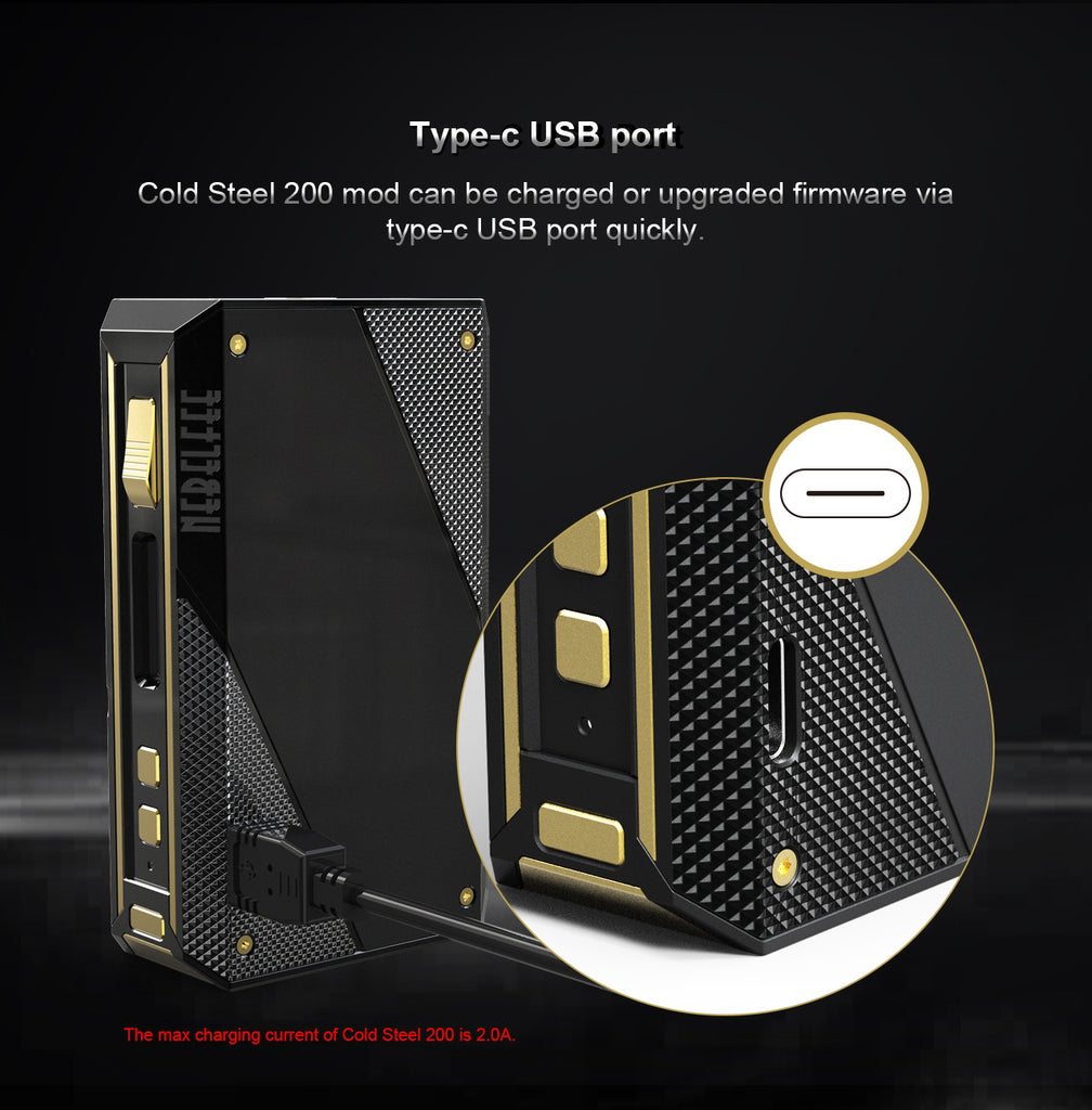 Ehpro Cold Steel 200 TC Box Mod Charging