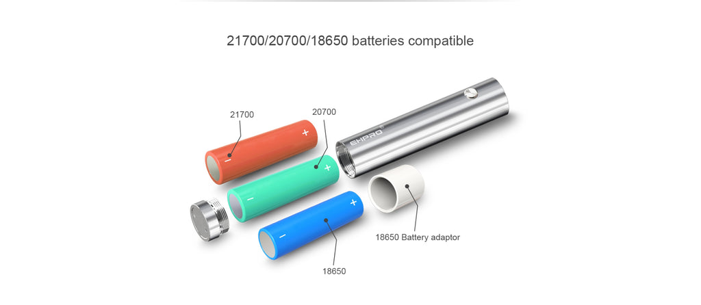 Ehpro 101 Pro TC Mod Kit Batteries