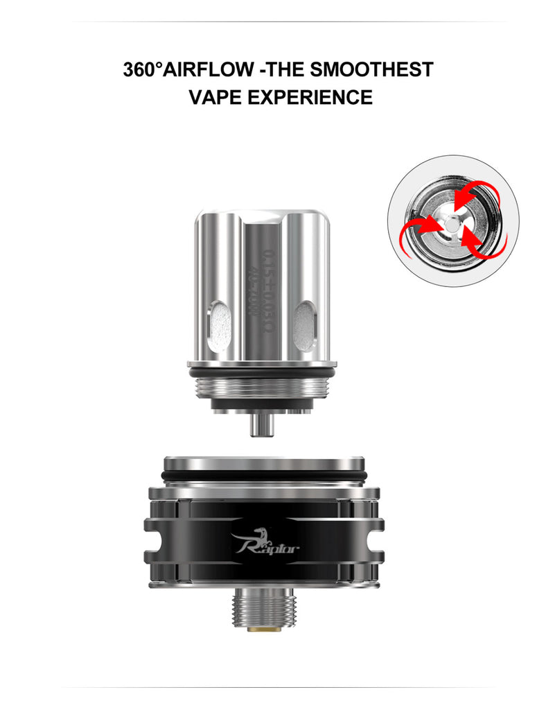 Ehpro Raptor Tank 6ml 25mm 360 Arirflow System