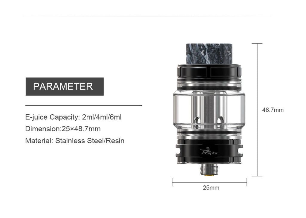 Ehpro Raptor Tank 6ml 25mm Parameter