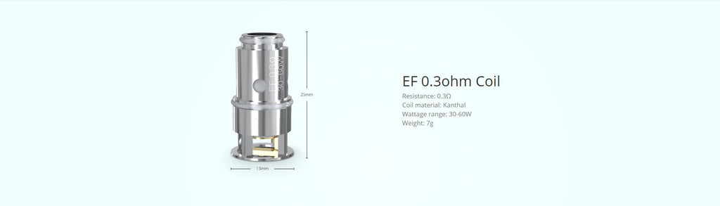 Eleaf Replacement EF 0.3ohm Coil Head Specification