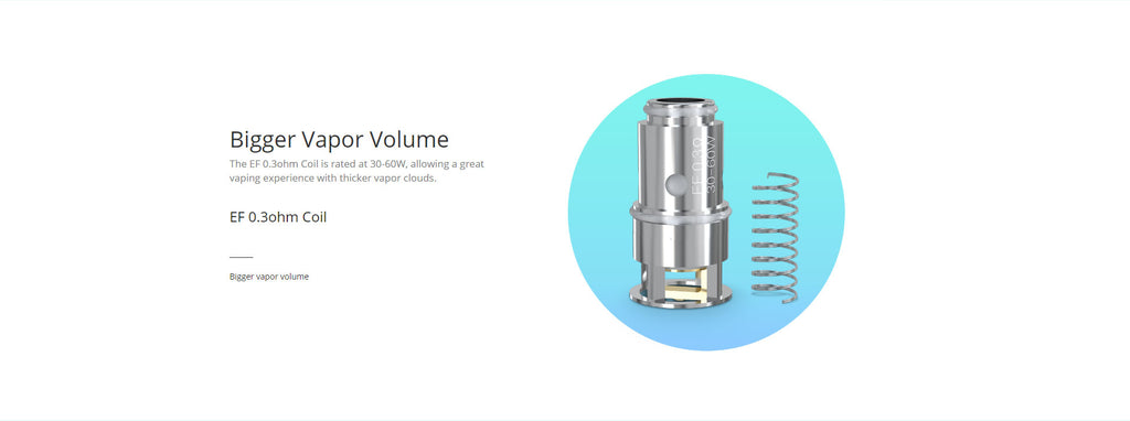 Eleaf Replacement EF 0.3ohm Coil Head Details
