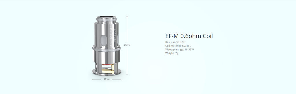 Eleaf Replacement EF-M 0.6ohm Coil Head Specification