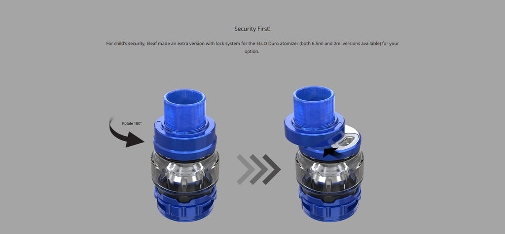 Eleaf Ello Duro Tank Security First