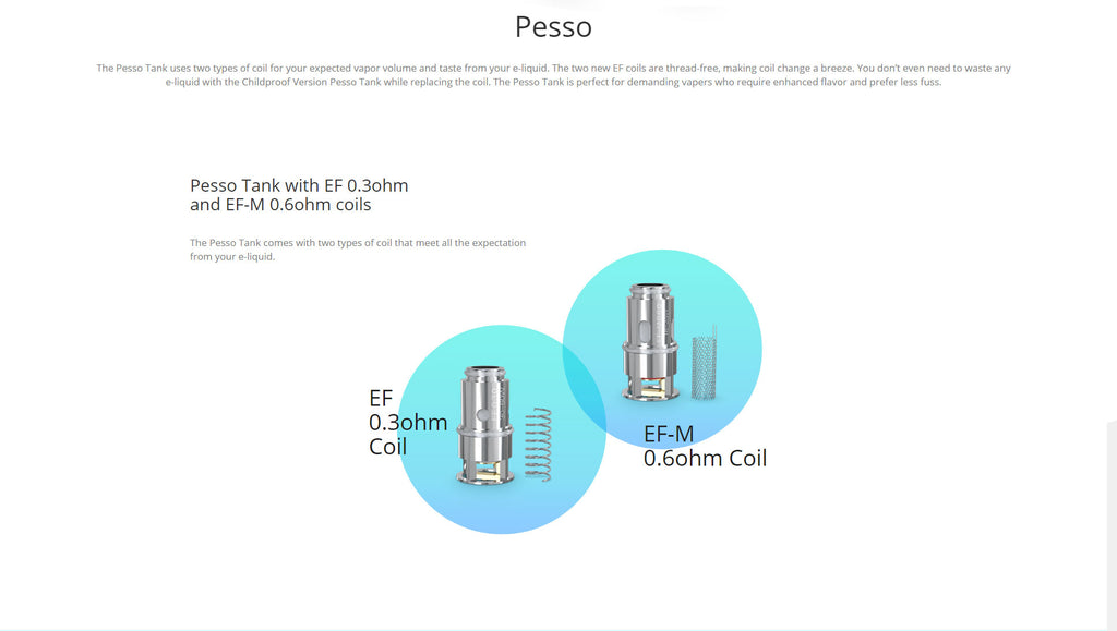 Eleaf Pesso Tank 5ml 25mm Childproof Edition 2 Replaceable Coils