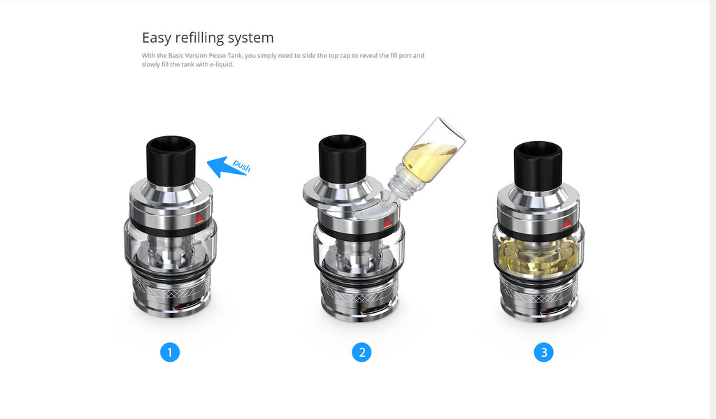 Eleaf Pesso Tank 5ml 25mm Basic Edition Easy Refilling System
