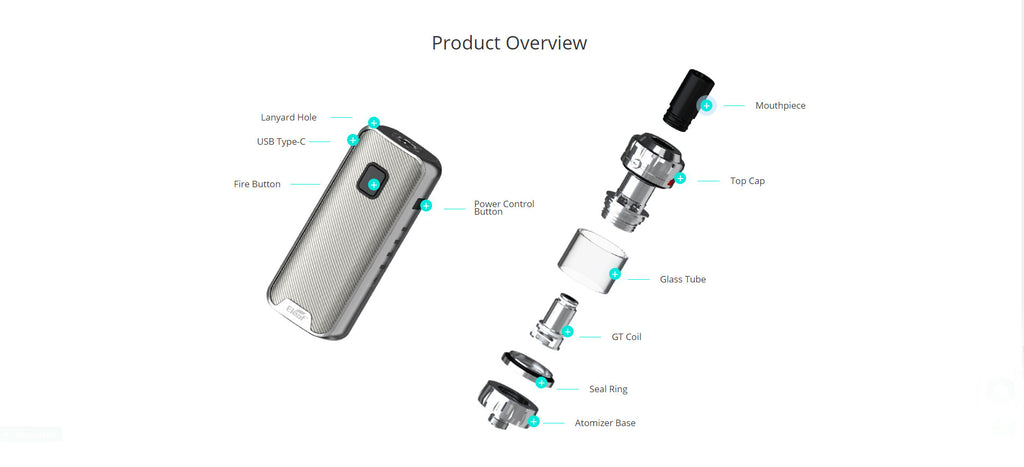Eleaf iStick Amnis 2 with GTiO Tank Starter Kit 23W 1100mAh 3ml Overview