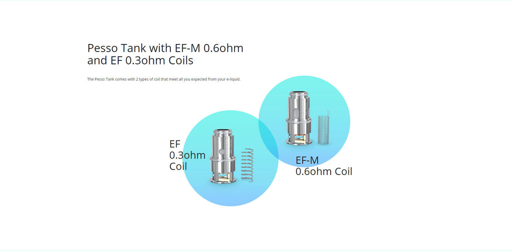 Eleaf iStick Pesso Tank With ED-M and ED Coils