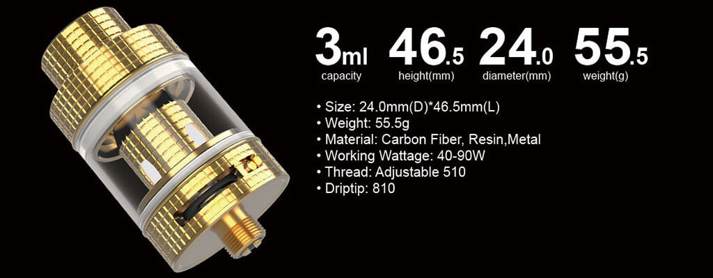 FreeMax Fireluke Mesh Sub Ohm Tank Kit Specification