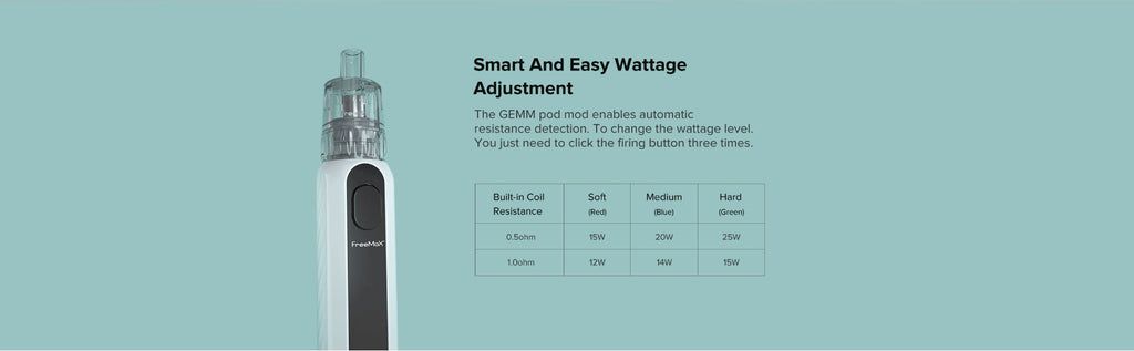 Smart and Easy Wattage Adjustment