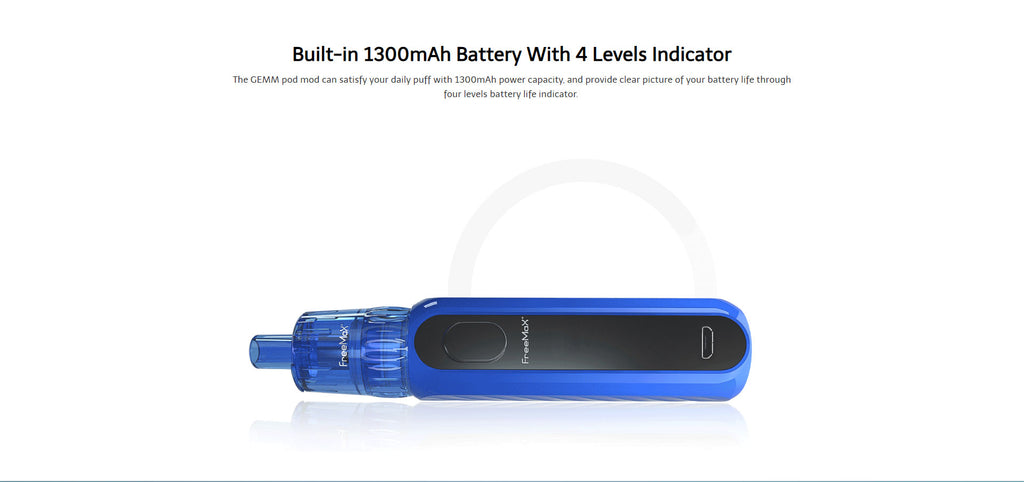 Freemax GEMM Vape Pen VW Starter Kit 1300mAh Battery with 4 Levels Indicator