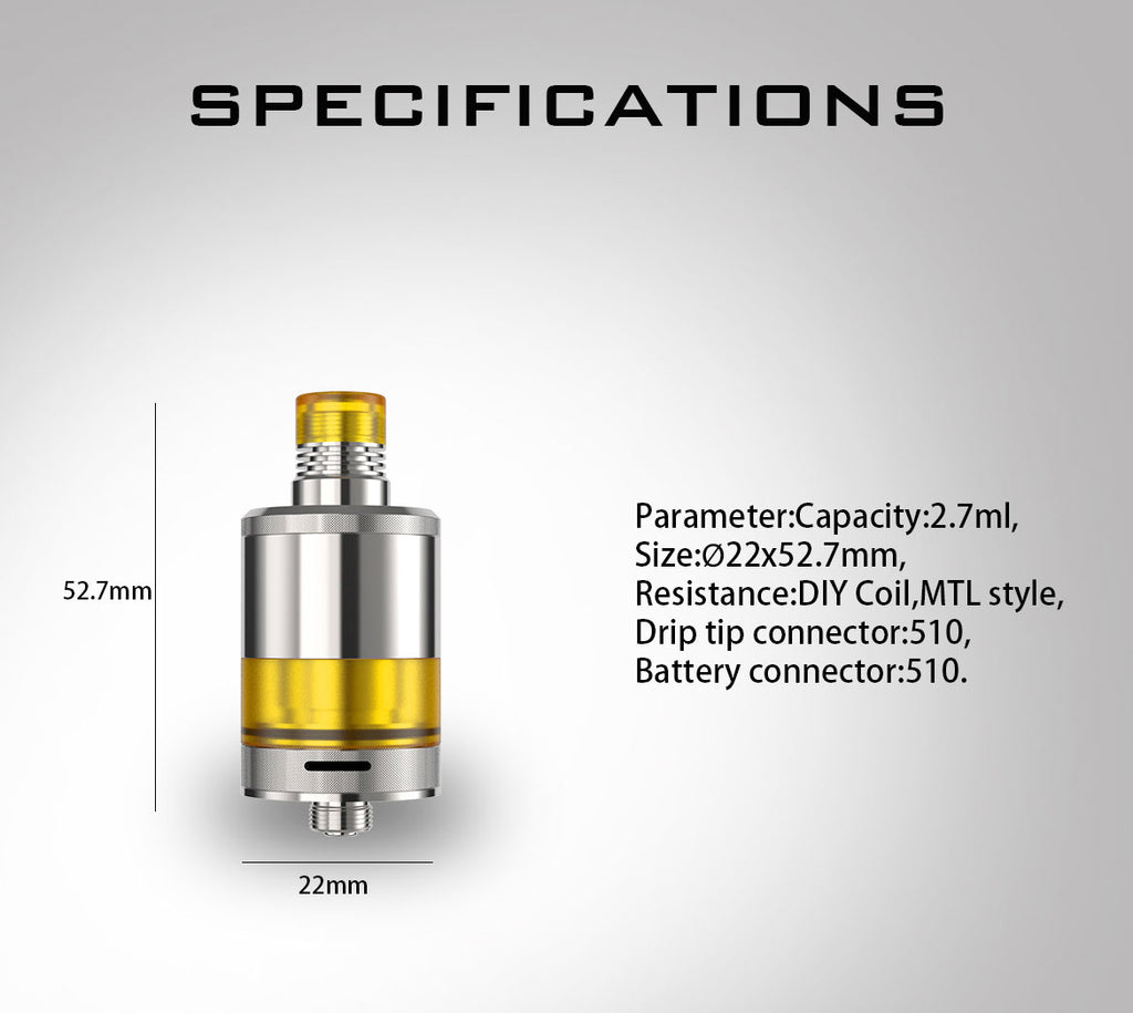 Fumytech Precisio MTL Pure RTA Specifications