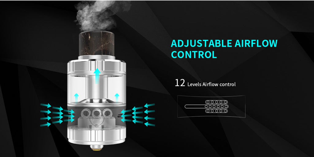 G-TASTE Aries RTA 10ml 30mm Adjustable Airflow Control