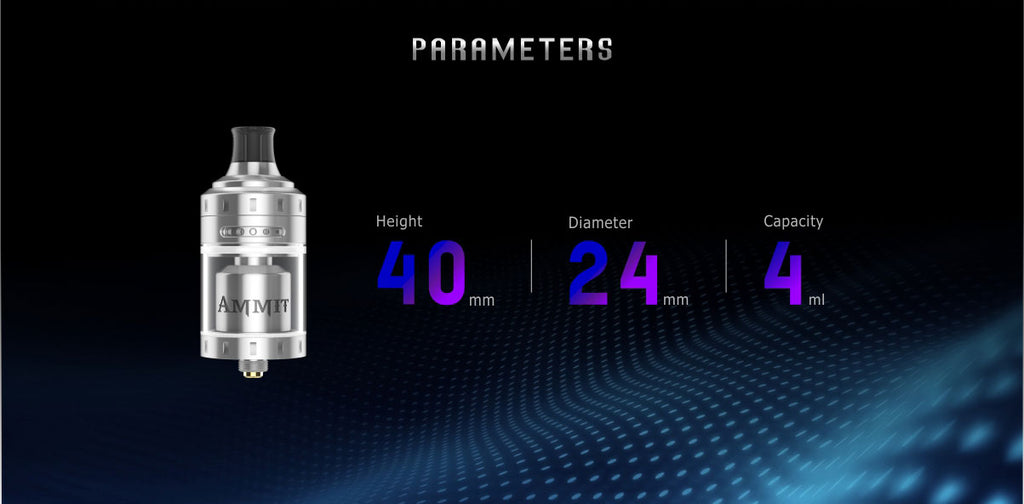 GeekVape Ammit MTL RTA Parameters