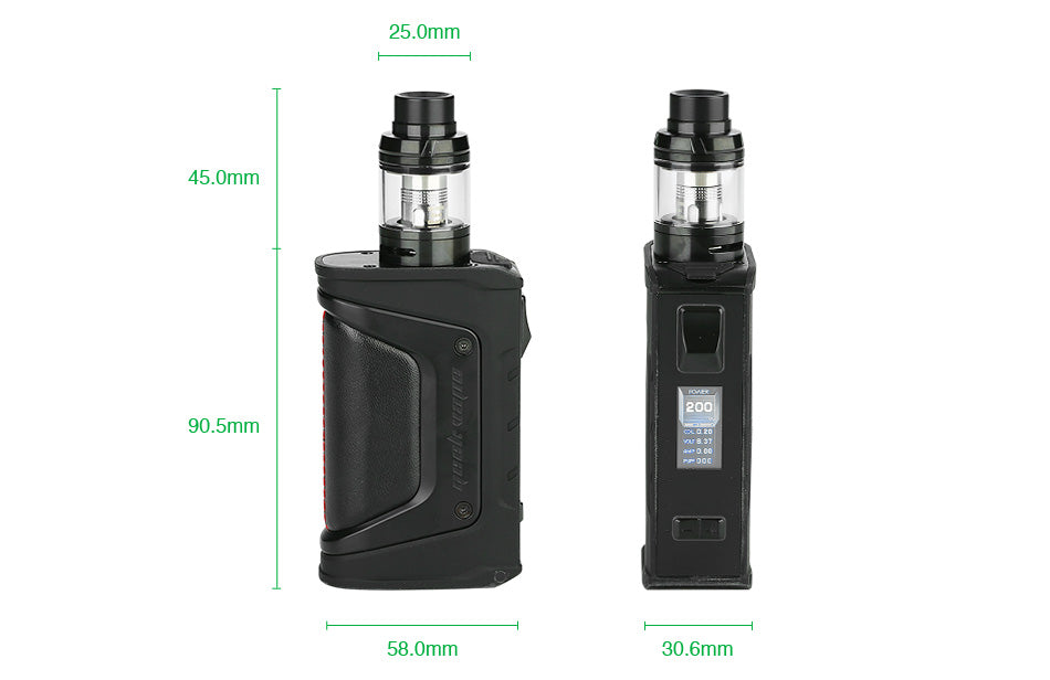 GeekVape Aegis Legend TC Mod Kit Size