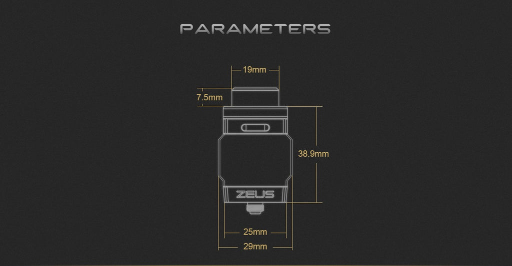GeekVape Zeus Dual RTA Parameters