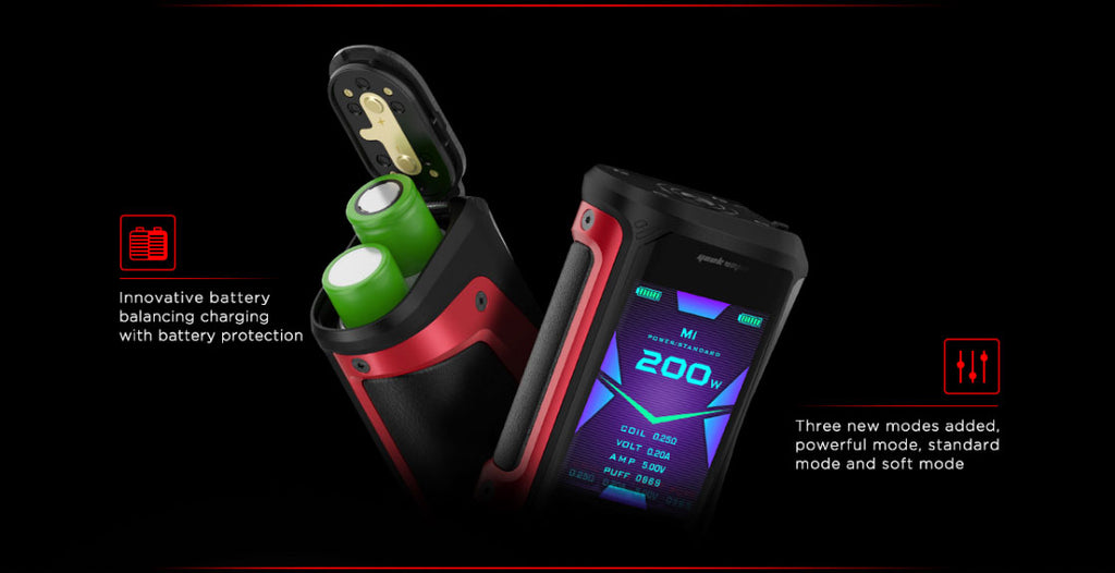 Geekvape Aegis X TC Mod Kit Batteries & 2.4inch OLED Screen Modes Display