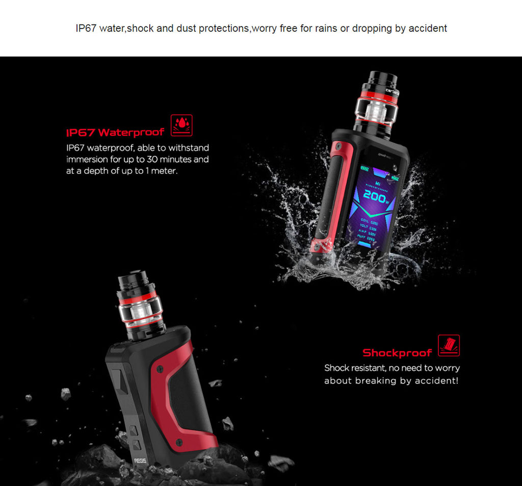 Geekvape Aegis X TC Mod Kit Waterproof Shockproof & Dustproof