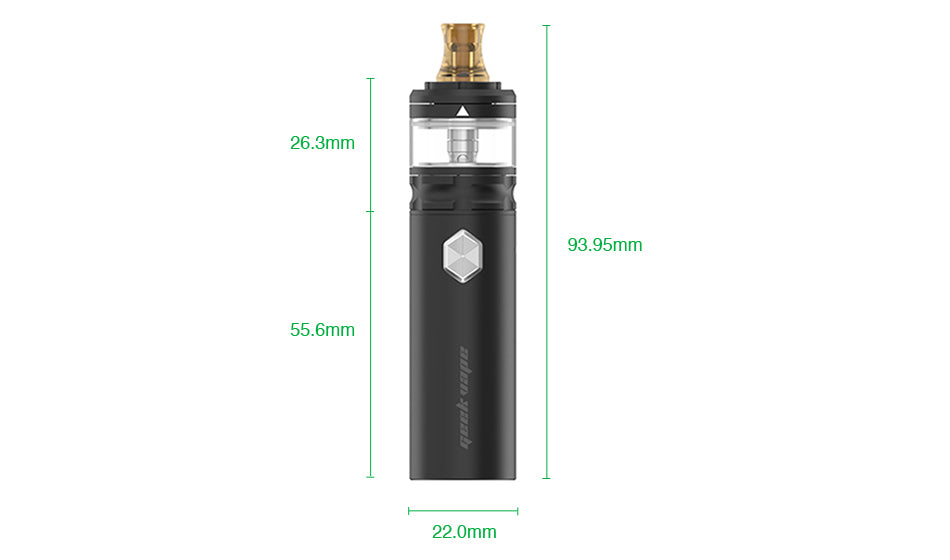 Geekvape Flint Vape Pen Kit Size