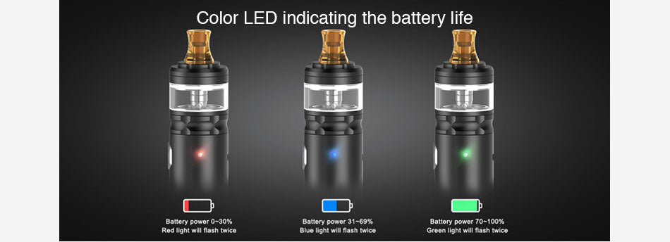 Geekvape Flint Vape Pen Kit Battery LED Indicating