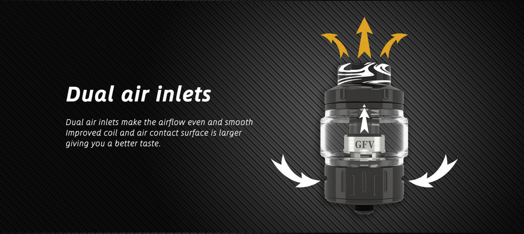 28mm Goforvape Emperor Sub Ohm Tank Dual Air Inlets