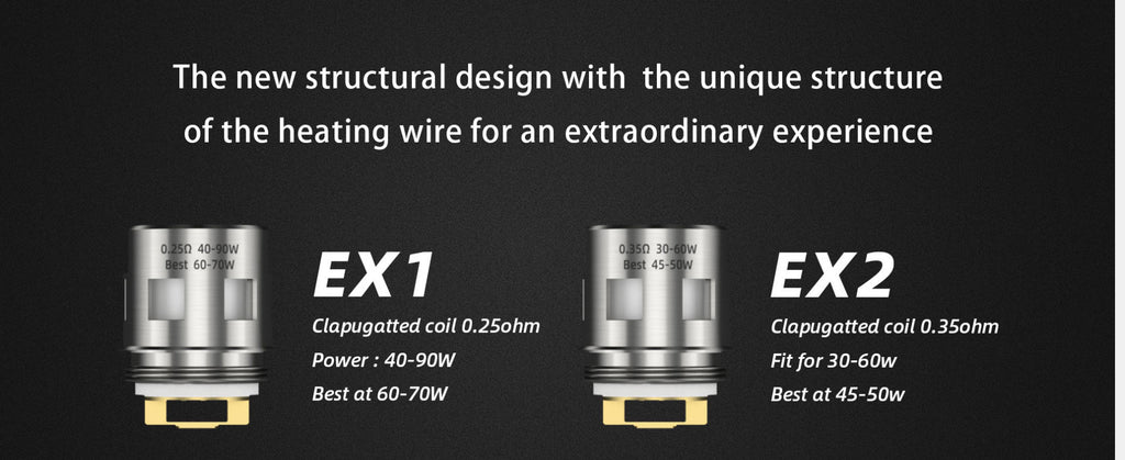 Goforvape Replacement EX1 / EX2 Clapugatted Coil Head 2 Optional