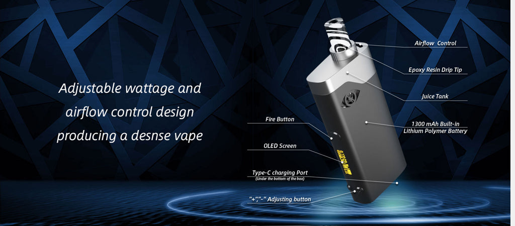 Goforvape Satisfy Pod System VW Starter Kit Components