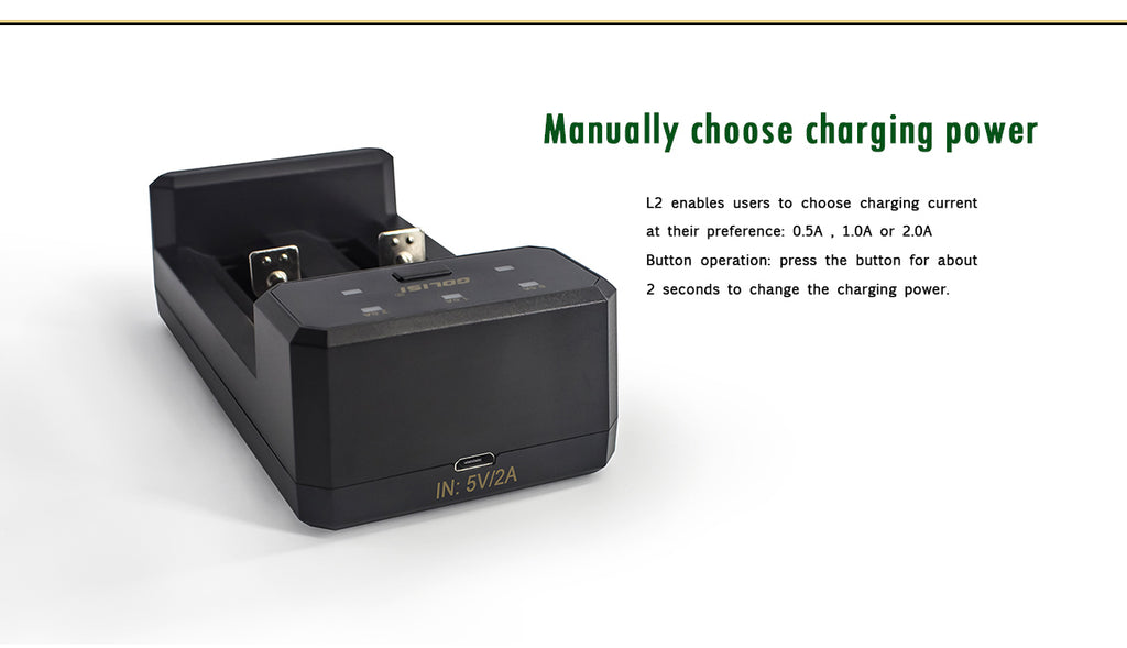 Golisi L2 Smart USB Charger Manually Choose Charging Power